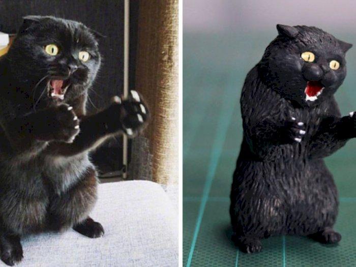 Intip Potret Kocak Tingkah Kucing yang Diabadikan Jadi Patung