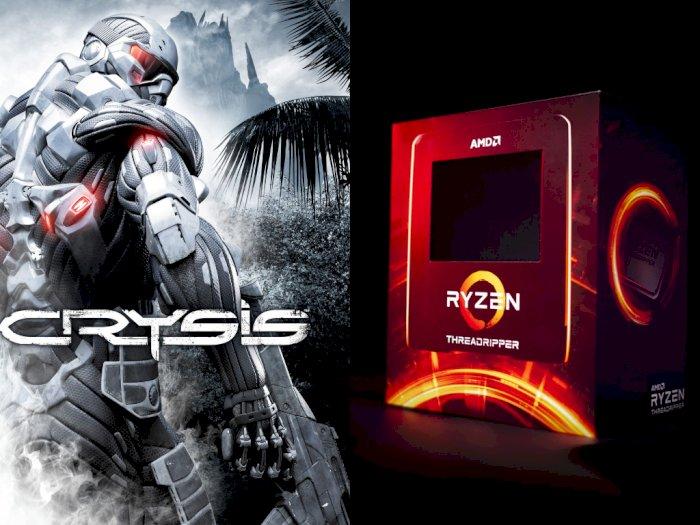 AMD Ryzen Threadripper 3990X Bisa Mainkan Crysis Tanpa GPU Tambahan!