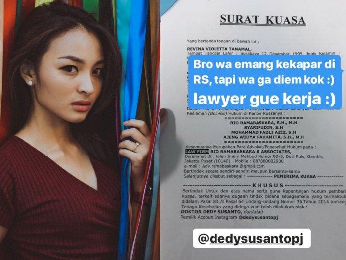 Revina VT Gandeng 4 Pengacara untuk Melawan Dedy Susanto