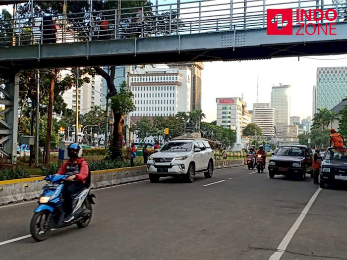 Demo PA 212 Selesai, Lalin di Jalan Medan Merdeka Barat Dibuka