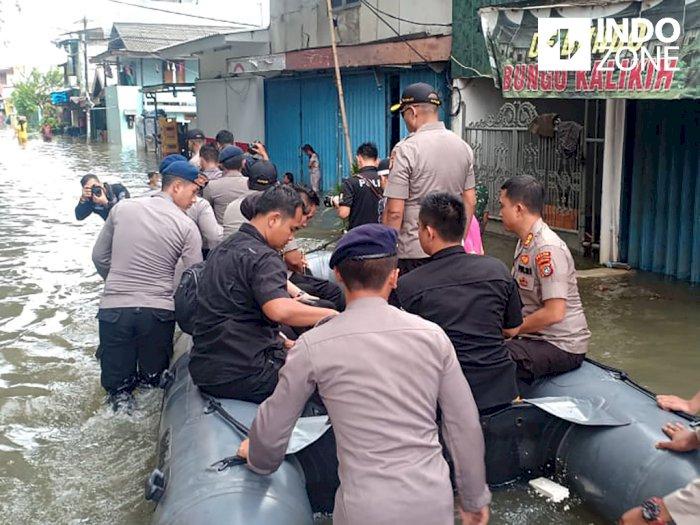Banjir di Jakbar, Polri Kerahkan 150 Personel