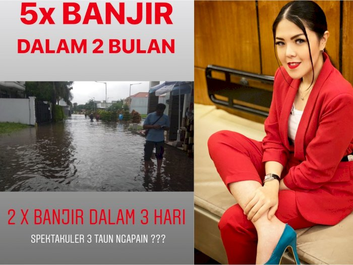 2 Kali Banjir dalam 3 Hari, Tina Toon: 3 Tahun Ngapain?