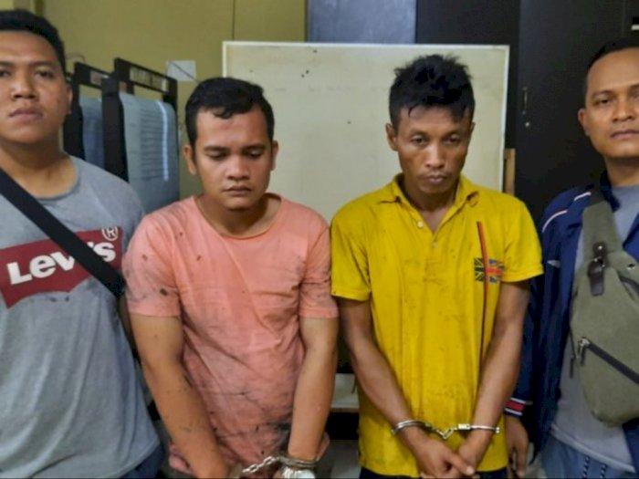 Dua Pengedar Narkoba di Kota Tanjungbalai Ditangkap di Kebun Sawit