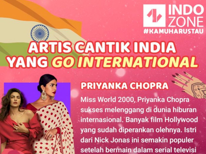 Artis Cantik India yang Go International