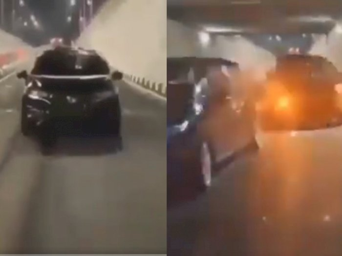 Mobil Ini Melaju Zig-zag Demi Video TikTok, Ujungnya Diamankan Polisi