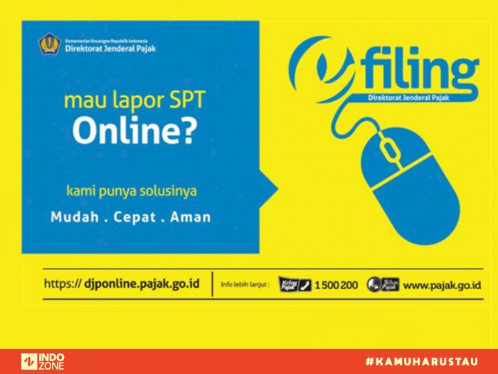 Cara Lapor Spt Online Melalui E Filing Djp Online Indozone Id