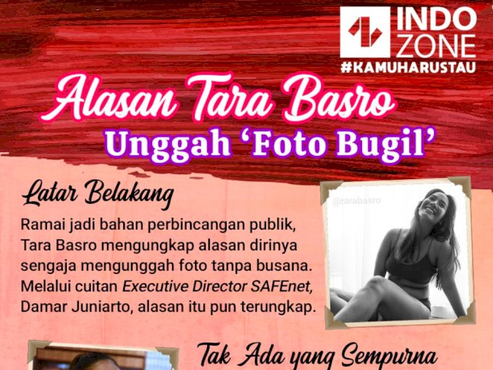 Alasan Tara Basro Unggah 'Foto Bugil'