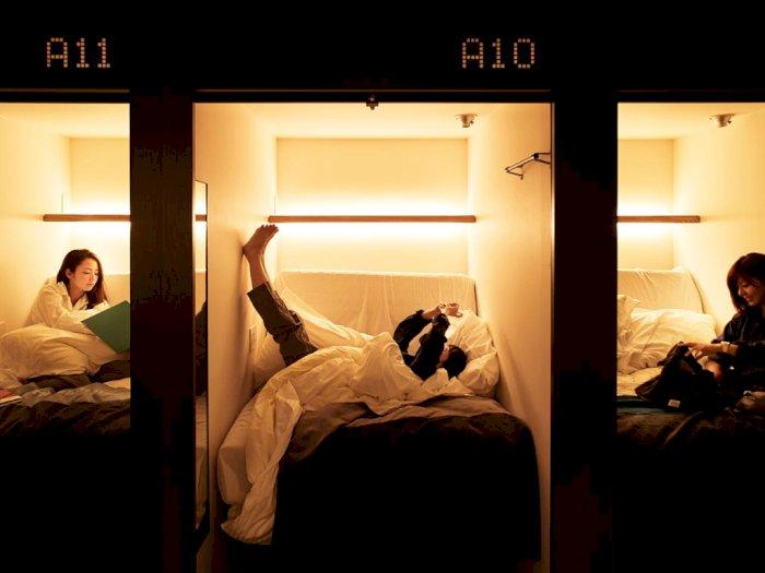 Hotel Kapsul Ini Punya Alarm Unik Bangunkan Tamu