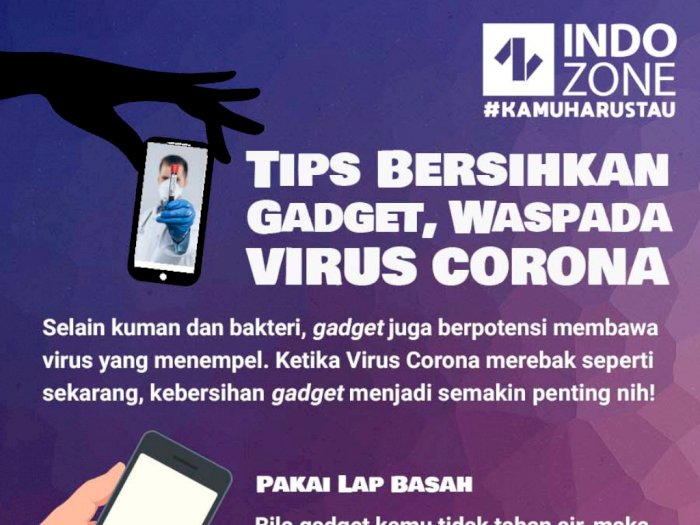 Tips Bersihkan Gadget, Waspada Virus Corona