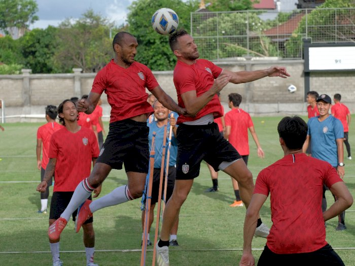 Bali United Gelar Latihan Tertutup Sebagai Upaya Antisipasi Corona