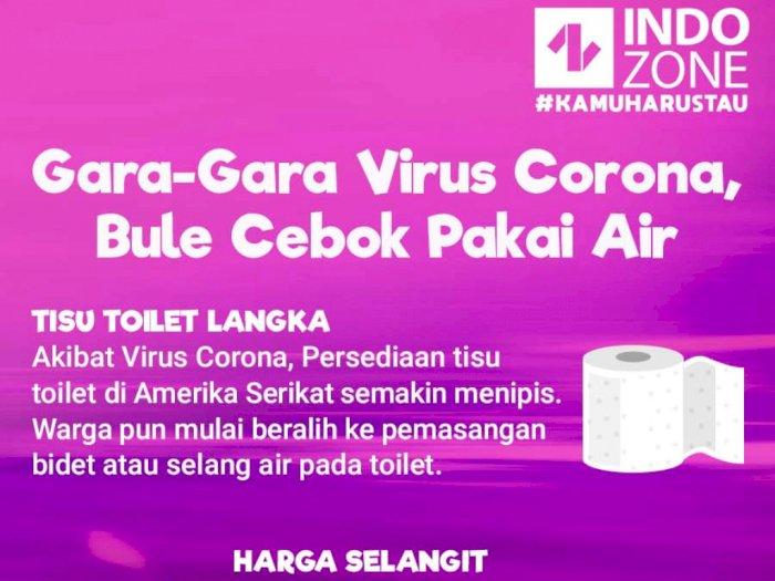 Gara-Gara Virus Corona, Bule Cebok Pakai Air