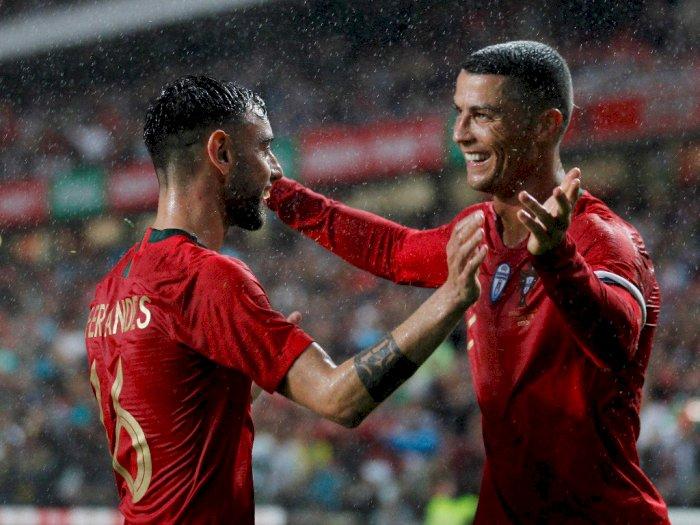 Cerita Bruno Fernandes Ketika Dipuji Cristiano Ronaldo