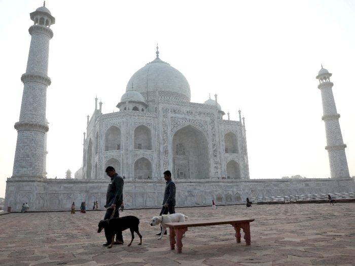 Tangkal Corona, India Tutup Taj Mahal dan Larang Pendatang Eropa