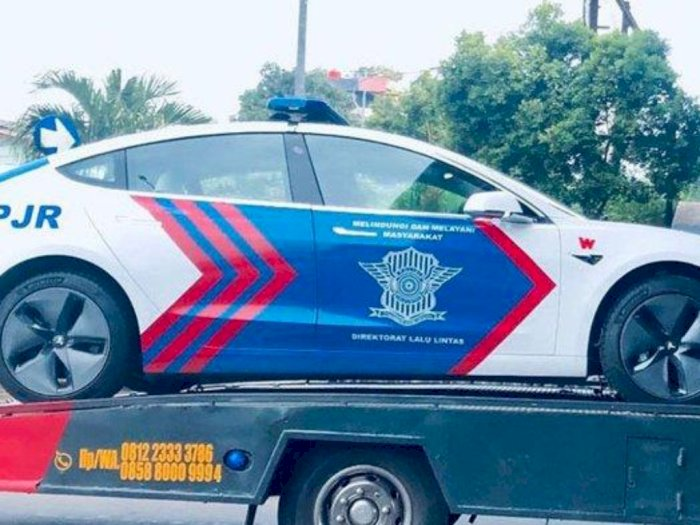 Keren Polisi Indonesia Siap Patroli Pakai Mobil Listrik Tesla Indozone Id