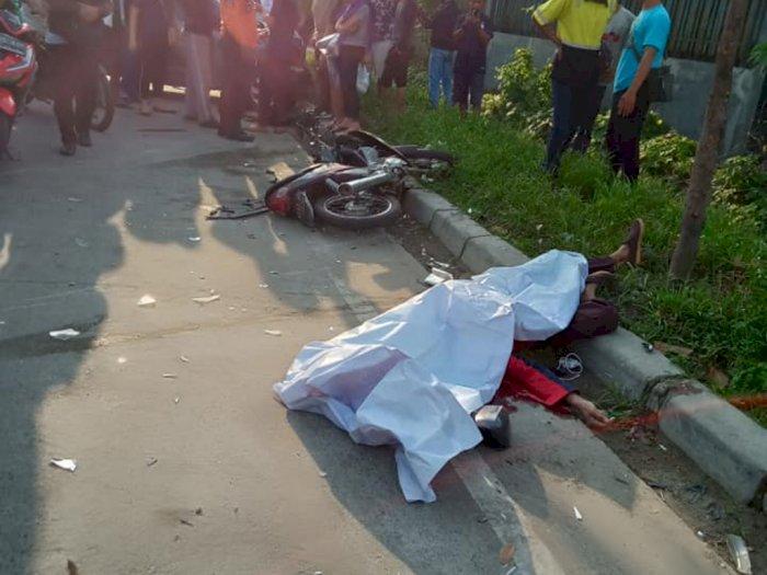Tabrakan di Jalan Cemara, Seorang Pengendara Sepeda Motor Tewas