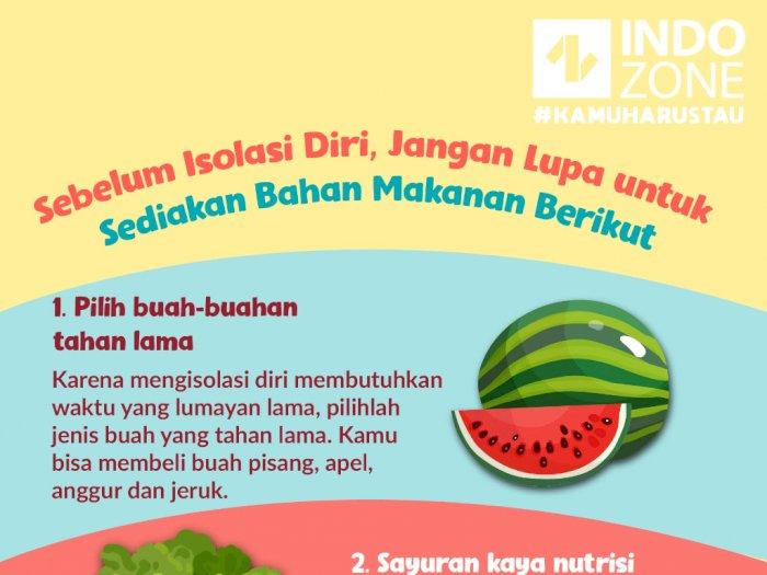 Sebelum Isolasi Diri, Jangan Sediakan Bahan Makanan Berikut