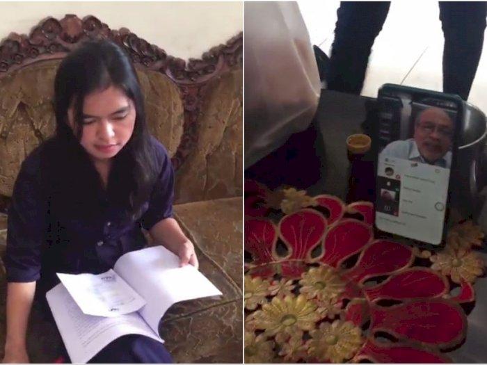 Tidak Bisa Tatap Muka karena Corona, Mahasiswi Ini Sempro Online