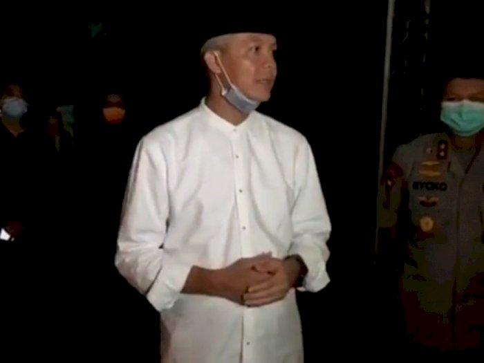 Gubernur Jateng Ganjar Pranowo Berharap Warga Mendoakan Ibunda Jokowi dari Rumah