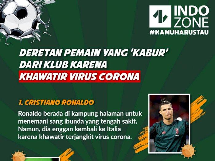 Deretan Pemain yang 'Kabur' dari Klub karena Khawatir Virus Corona