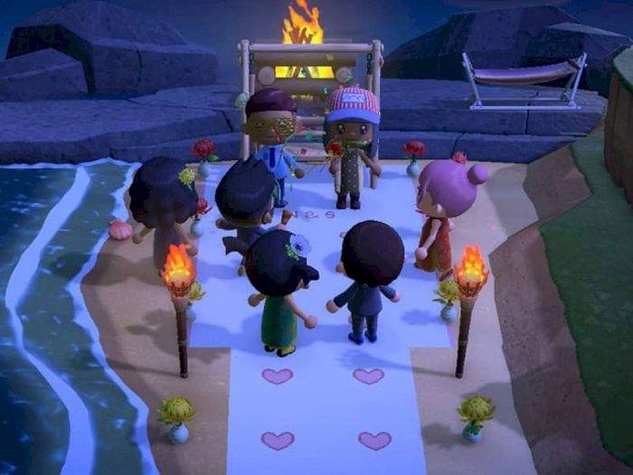 Pernikahan Ditunda Karena Corona, Pasangan Ini Gelar Pesta di Animal Crossing!