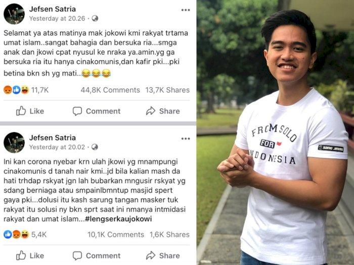 Mendiang Eyang Dihina Netizen, Kaesang: Tidak Perlu  Dipermasalahkan