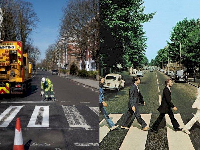 Efek Positif Lockdown, Zebra Cross The Beatles di London Akhirnya Bisa Dicat Ulang