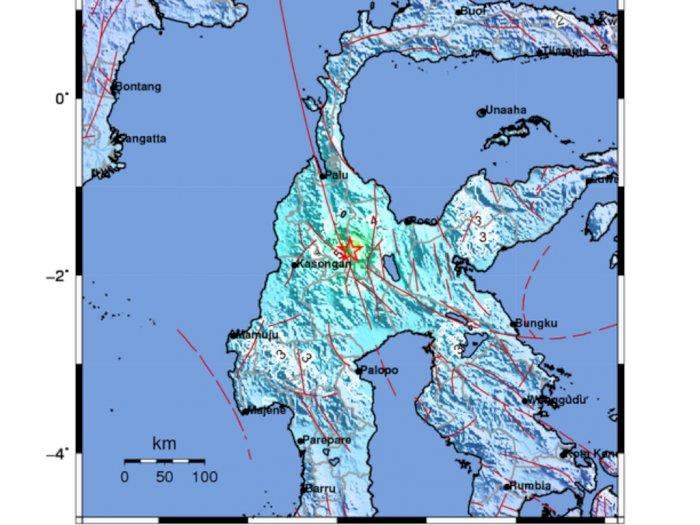 Gempa Berkekuatan 5,8 Magnitudo Guncang Sigi, Sulawesi Tengah