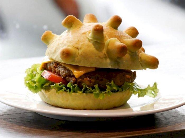 Heboh Ada Burger Berbentuk Virus Corona di Vietnam