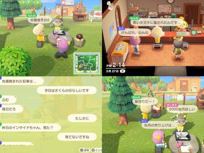 Perusahaan di Jepang Pakai Game Animal Crossing untuk Lakukan Meeting!