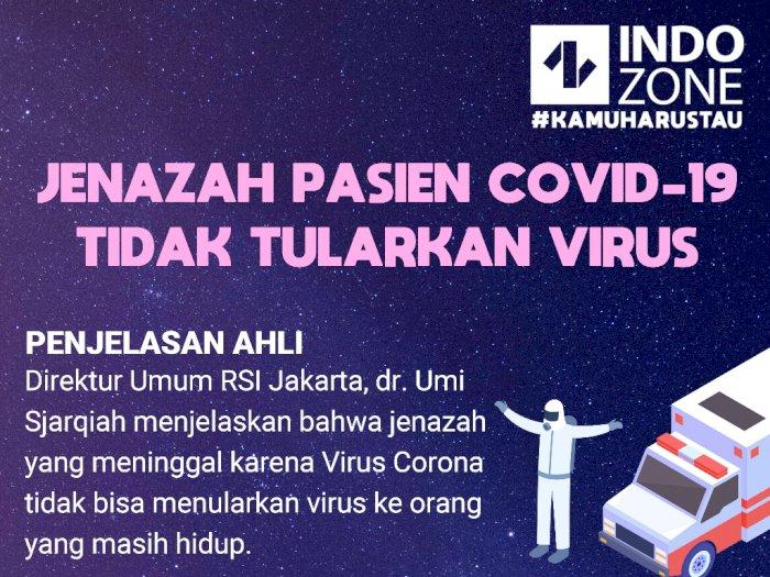 Jenazah Pasien COVID-19 Tidak Tularkan Virus