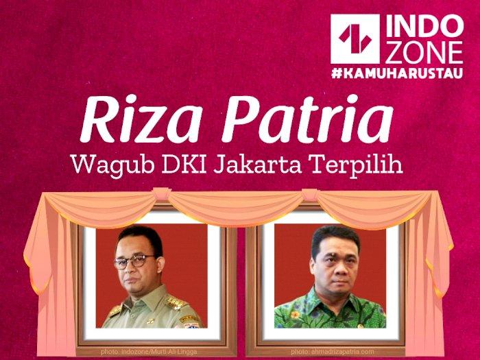 Riza Patria, Wagub DKI Jakarta Terpilih