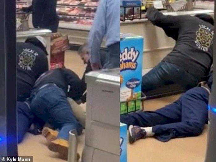 Ludahi Makanan di Supermarket, Pria Ini Berakhir Digebuki Pengunjung Lainnya