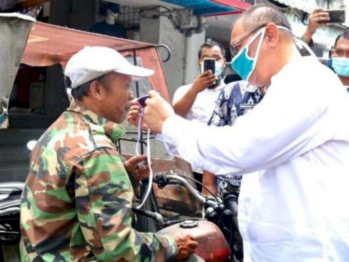 Plt. Wali Kota Medan Usir Pedagang yang Tak Pakai Masker di Pasar Tradisional