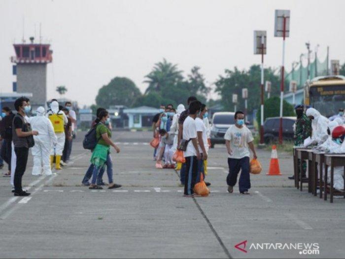 TKI dari Malaysia Gelombang ke-4 Sudah Tiba di Lanud Soewondo Medan