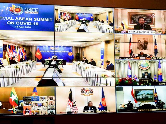 Lawan Covid-19, Pemimpin Asia Tenggara Sepakat Bekerja Sama