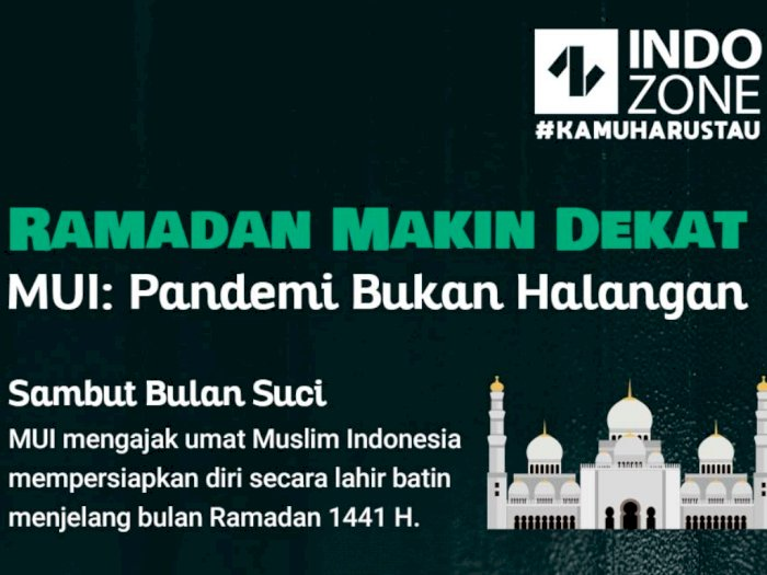 Ramadan Makin Dekat, MUI: Pandemi Bukan Halangan