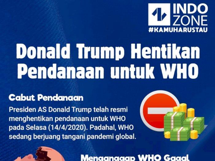 Donald Trump Hentikan Pendanaan WHO