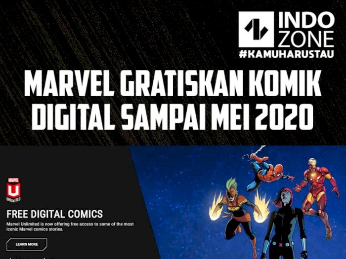 Marvel Gratiskan Komik Digital Sampai Mei 2020