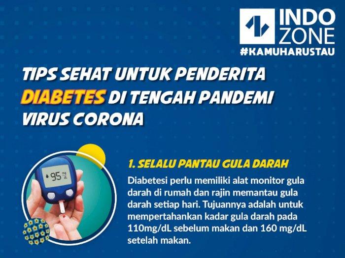 Tips Sehat untuk Penderita Diabetes di Tengah Pandemi Virus Corona