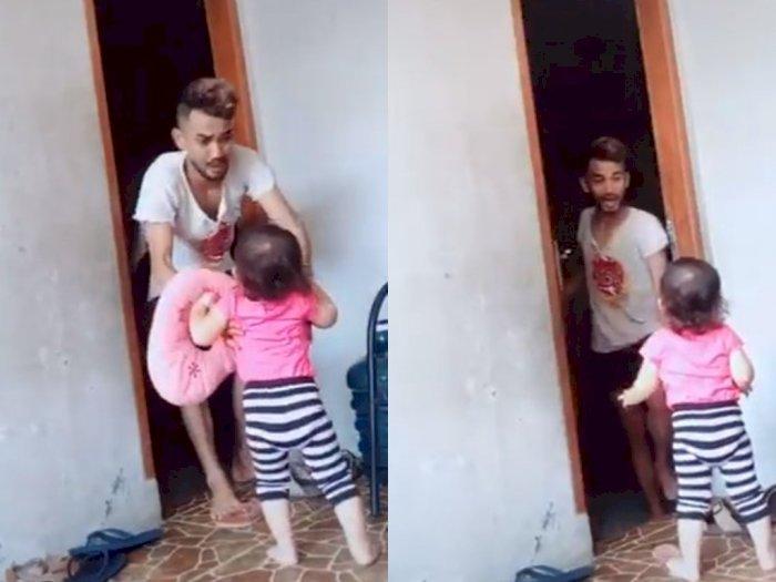 Pria Ini Bikin Seorang Bocah Nangis saat Main TikTok, Videonya Tuai Kontroversi
