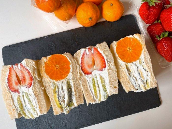 Resep Sandwich Buah Ala Jepang yang Menyegarkan dan Super Creamy