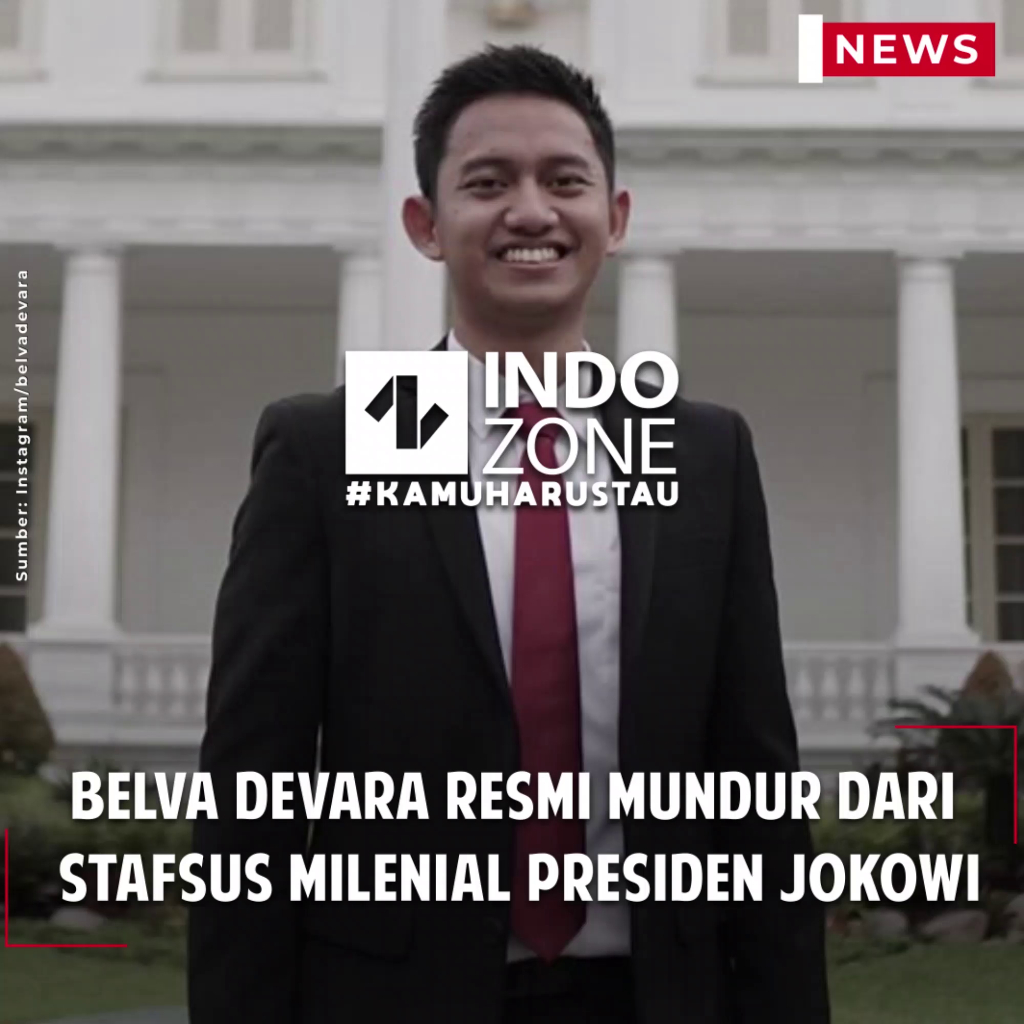 Belva Devara Resmi Mundur dari  Stafsus Milenial Presiden Jokowi