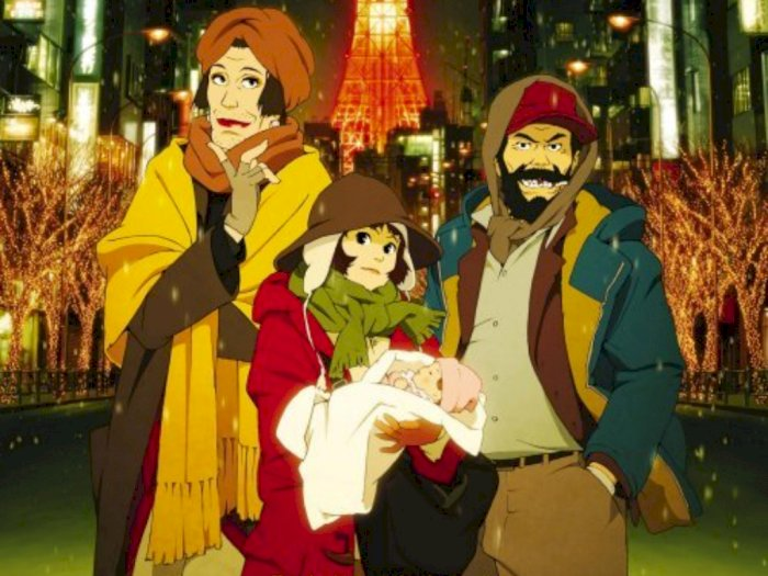 "Sinopsis dan Trailer Film Anime ""Tokyo Godfathers (2003)"""