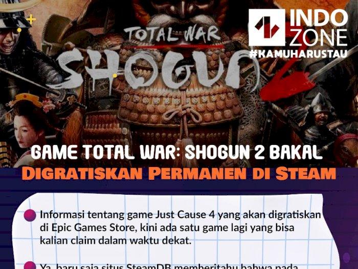 Game Total War: Shogun 2 Bakal Digratiskan Permanen di Steam