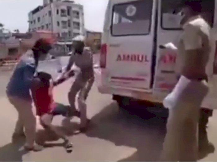 Pelanggar Lockdown India Dihukum Masuk ke Mobil Ambulans yang Ada Pasien Corona, Padahal..