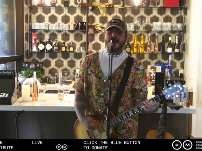 Galang Dana untuk Corona, Post Malone Live Streaming Bawakan Lagu Nirvana