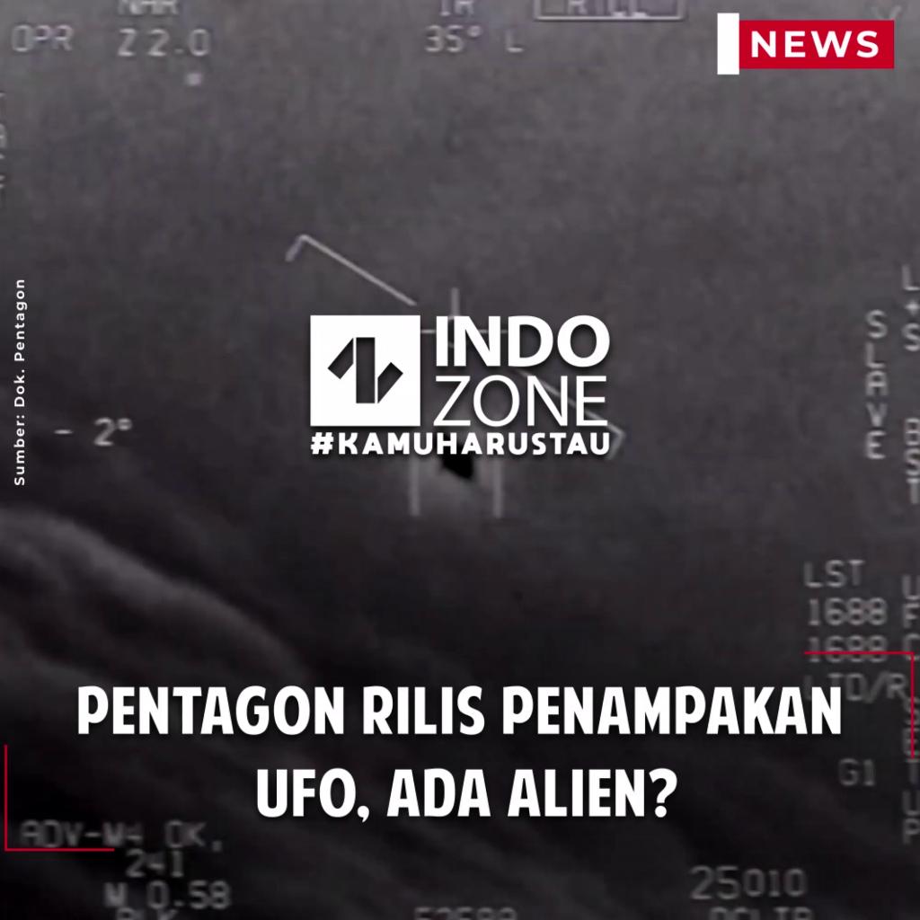 Pentagon Rilis Penampakan UFO, Ada Alien?