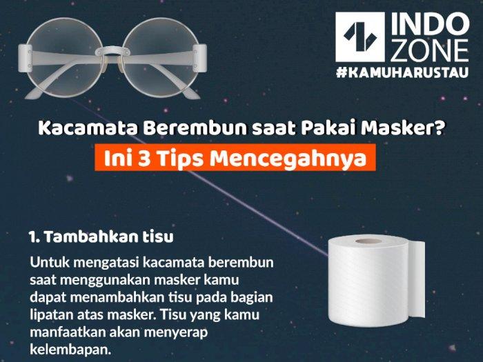 Kacamata Berembun saat Pakai Masker? Ini 3 Tips Mencegahnya