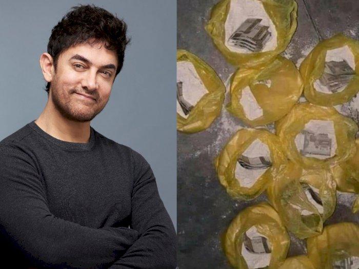 Diam-diam, Aamir Khan Sumbangkan Tepung Berisi Uang Rp3 Juta