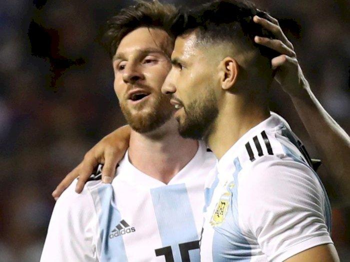 Aguero Sebut Messi Sempat Ingin Pergi dari Barcelona
